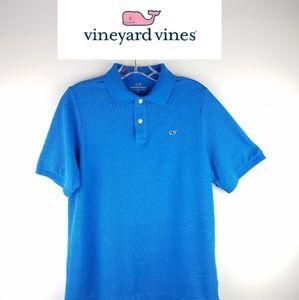 Vineyard Vines Boys Stretch Pique Heathered Polo